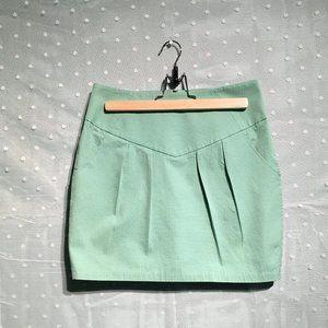 Silence + Noise mint green skirt